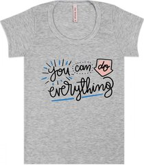 blusa baby look juvenil everything mescla - the woman