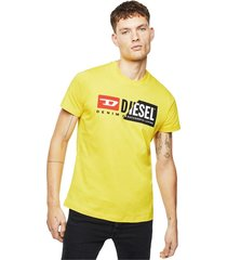 diesel 00sdp1 0091a t-diego cuty t shirt and tank unisex yellow