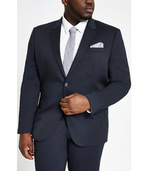 river island mens big and tall textured navy suit jacket