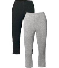 leggings capri elasticizzati (pacco da 2) (grigio) - bpc bonprix collection