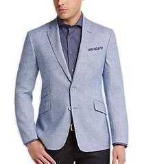 joe joseph abboud light blue tic slim fit sport coat