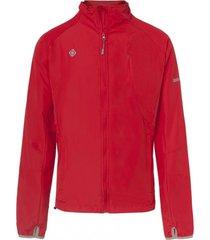 chaqueta impermeable running brezel rojo izas outdoor