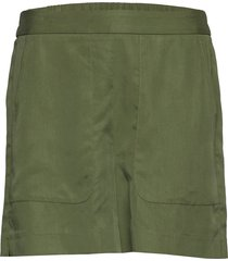high-rise 4 tencel™ pull-on short shorts flowy shorts/casual shorts grön banana republic