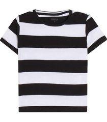 camiseta m/c con franjas horizontales