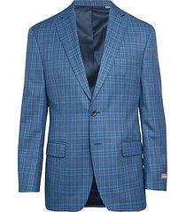 classic-fit stretch plaid jacket