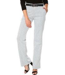 pantalón regular blanco neutro con suaves negras realist