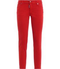 medium waist cropped twiggy jeans