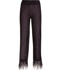 essentiel antwerp black lurex knitted pants