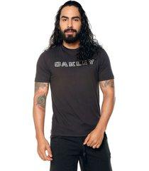 camiseta negra-gris oakley
