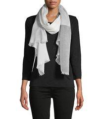 coloblock plaid scarf