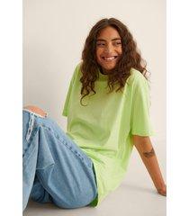na-kd basic ekologisk oversize t-shirt med rund hals - green