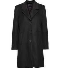 slfsasja wool coat noos b yllerock rock svart selected femme