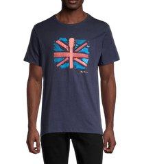 ben sherman men's guitar flag t-shirt - navy blazer - size m
