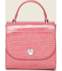 motivi borsa a tracolla in similpelle stampa cocco donna rosa