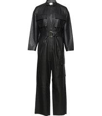 taz leather jumpsuit jumpsuit svart notes du nord