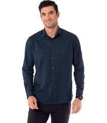 camisa print cotton spandex azul marino arrow