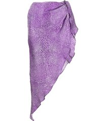 art dealer asymmetric short skirt - purple