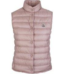grey feather down sleeveless women padded jacket