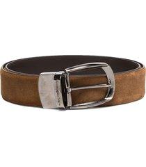 ermenegildo zegna buckle adjustable belt - brown