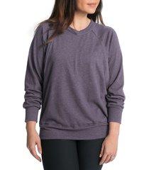 women's bun maternity relaxed daily maternity/nursing sweatshirt, size medium - purple