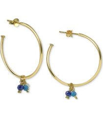 argento vivo shaky bead small hoop earrings s in gold-plated sterling silver