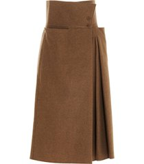 lemaire pleated skirt