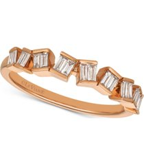 le vian baguette frenzy diamond baguette ring (1/4 ct. t.w.) in 14k rose gold