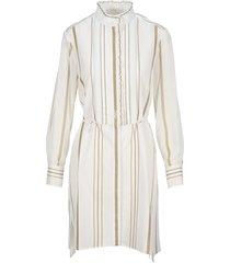 chloe striped shirt dress