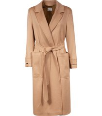 burberry belted wrapped long coat