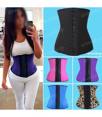 #1 women body shaper latex rubber waist trainer cincher aviseshop