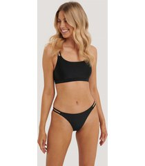 na-kd swimwear two strap bikini panty - black