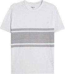 camiseta hombre franja medio color blanco, talla s