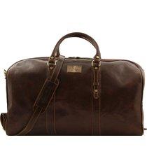 tuscany leather fc140860 francoforte - borsa da viaggio in pelle - misura grande testa di moro