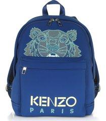 kenzo navy blue kampus neoprene tiger backpack