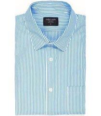 camisa estampada rayas - azul claro