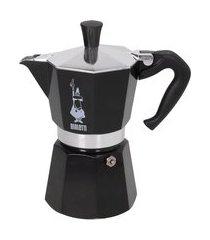 cafeteira italiana moka express 3 xícaras bialetti alumínio preta