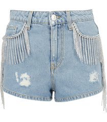 chiara ferragni denim shorts
