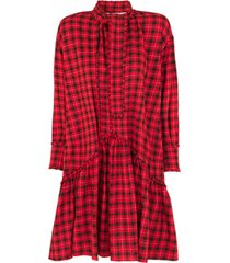 geruite jurk jamilla  rood