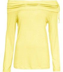maglia con spalle scoperte (giallo) - rainbow