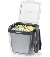 balde de gelo plástico com pinça 3,8 litros oxo