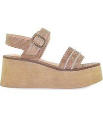 sandalia de cuero marrón vemmas otatillo