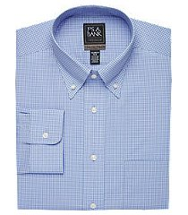 travel tech collection tailored fit button-down collar gingham shirt, by jos. a. bank