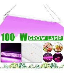 100w led crece la luz 168 bar las bandas de espectro hidropónico de plantas de interior vegetales veg accesorio de la lámpara de ca 110-220v de la ue nos plug / invernadero - blanco antiguo