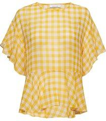 cherie ss 10841 blouses short-sleeved gul samsøe samsøe