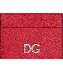 dolce & gabbana dauphine print leather card holder