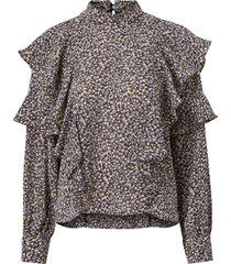 blus vmvilda l/s flower blouse