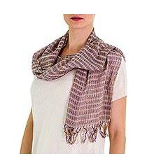 cotton scarf, 'subtle textiles on grey' (guatemala)