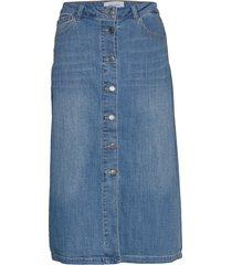 fqrock-sk knälång kjol blå free/quent
