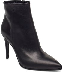 high stiletto bootie shoes boots ankle boots ankle boot - heel svart apair