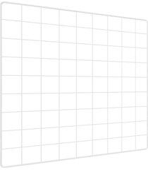memory board quadro de fotos branco - 45cm x 45cm 6 mini prendedores